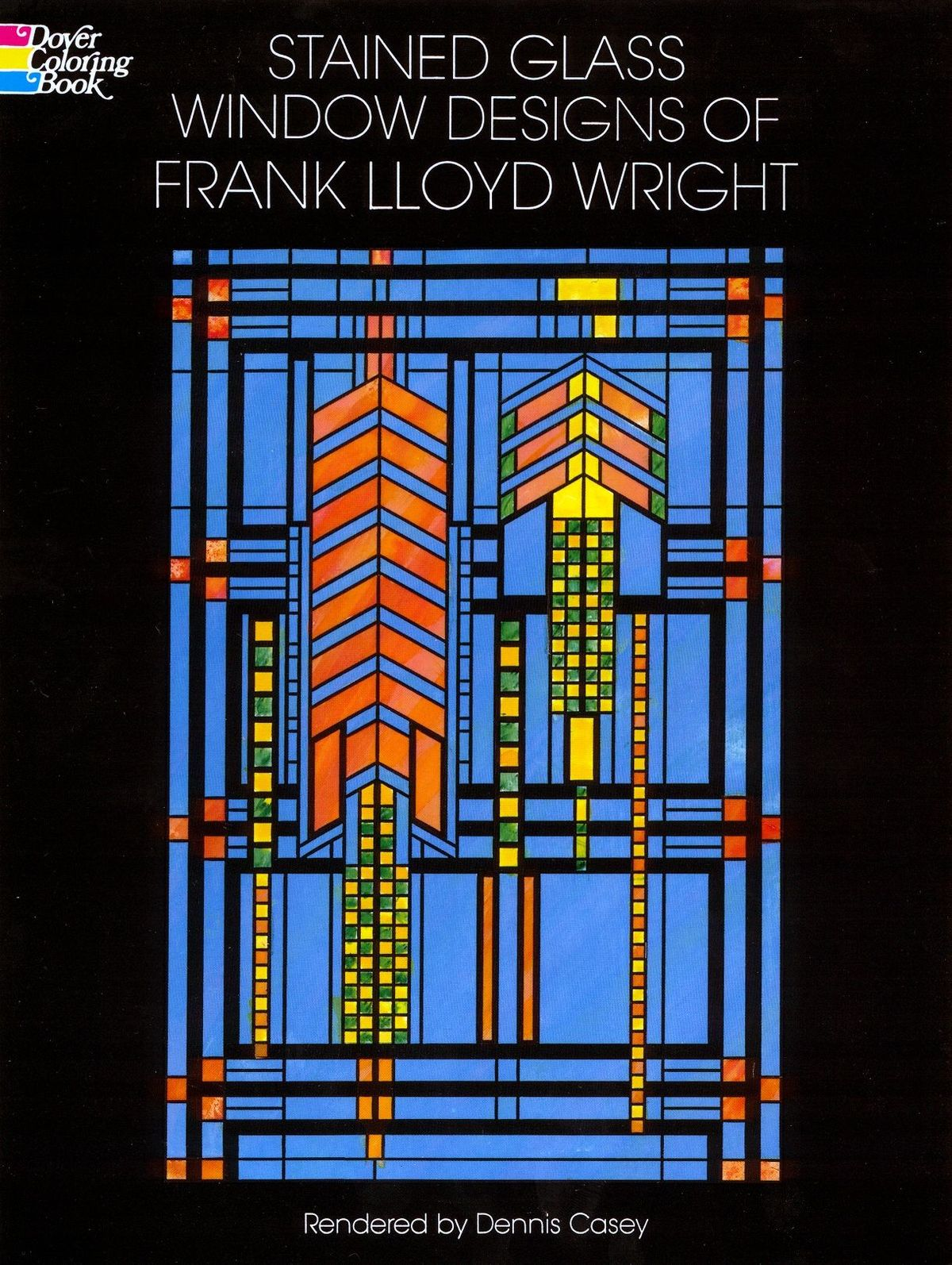 Dover Stained Glass Window Designs Of Frank Lloyd Wright