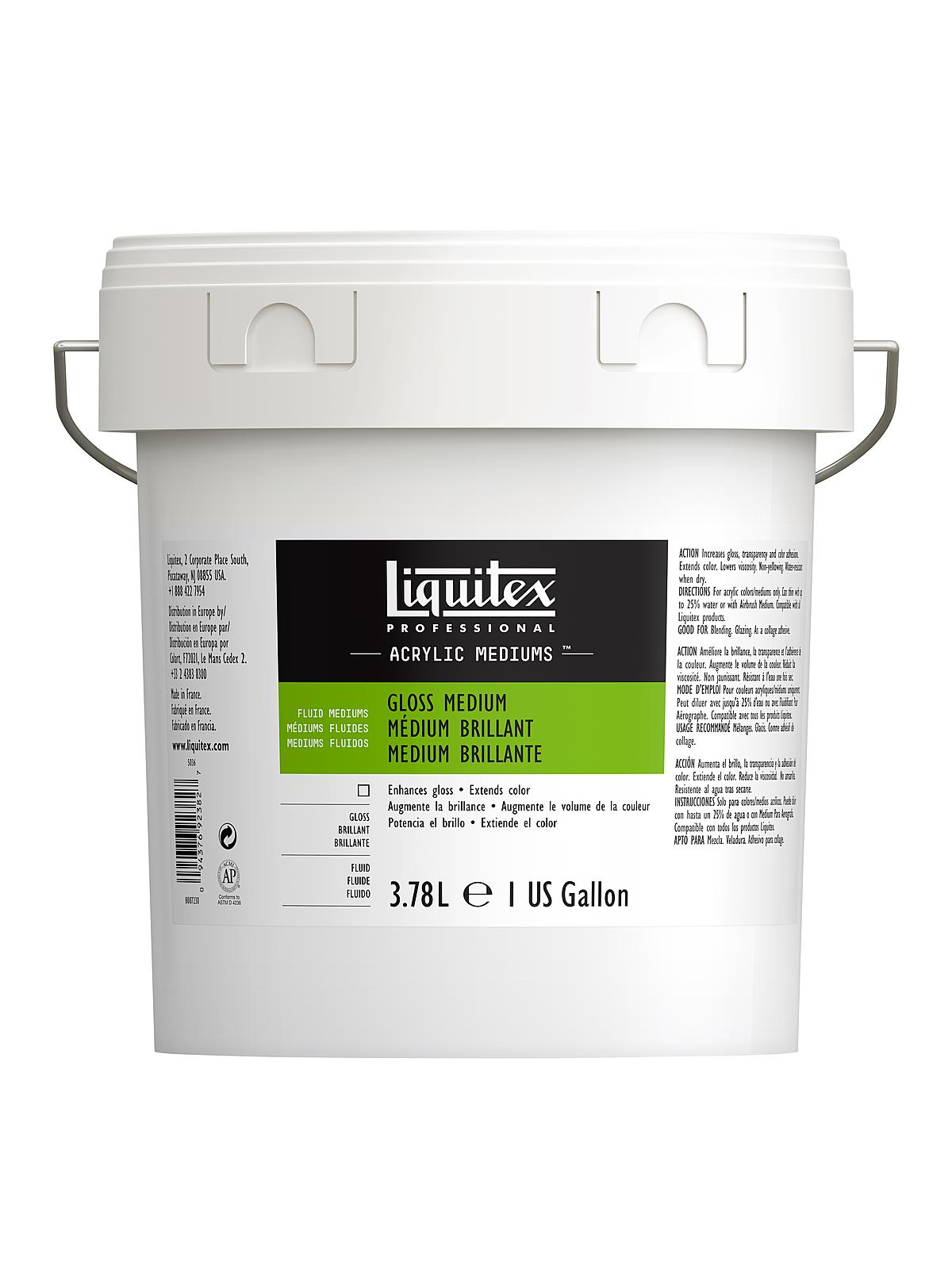 Liquitex acrylic gloss medium varnish ebay for Gloss medium for acrylic painting