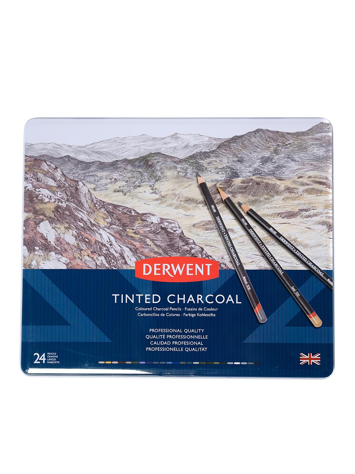 derwent tinted charcoal pencil sets ebay